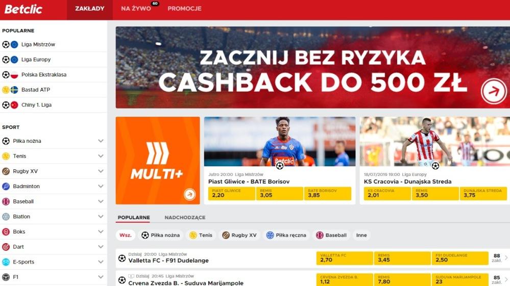 betclic-bukmacher-cashback-rejestracja Firmy bukmacherskie
